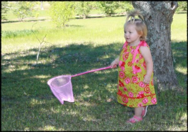 Abi with butterfly net 4/3/11